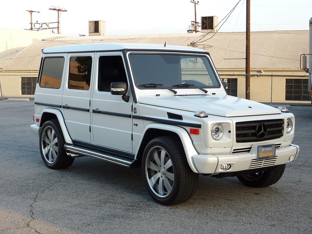 2011 G55 Matte White Wrap